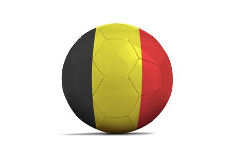 Soccer ball isolated with team flag, Russia 2018. Belgium Standard-Bild