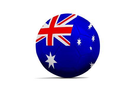 Soccer ball isolated with team flag, Australia Standard-Bild