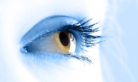 Macro view of a young women eye in close-up