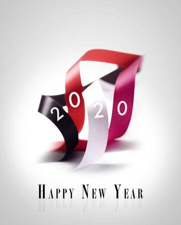 Tarjeta de felicitación - Feliz año nuevo 2020 versión en inglés