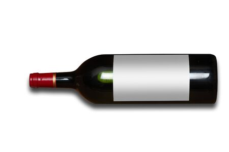 Wine bottle with blank label and isolated