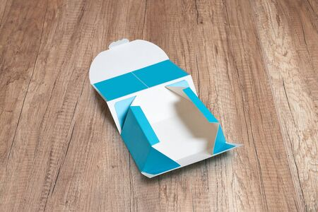 Collection of empty and blank sweety gift box. Path for each part of boxes. Easy to customize Foto de archivo