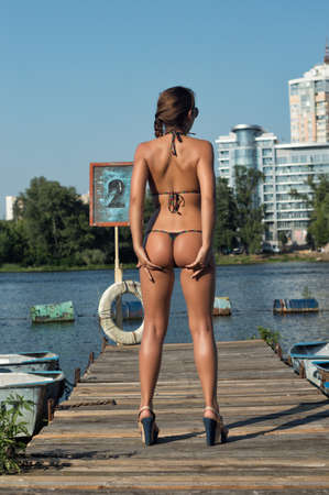 nude ass: rescue station on the river