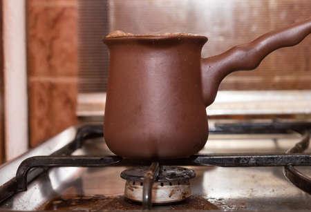 vesicles: coffee on the stove Stock Photo