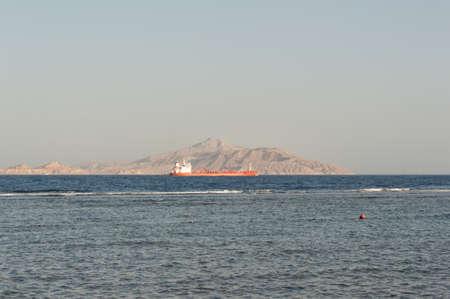seaway: Cargo ship at sea