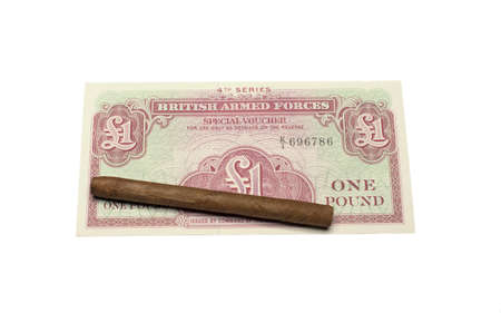 collectibles: collectibles Banknotes with cigar