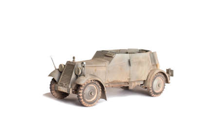 Canopies: scale model of old vehicle