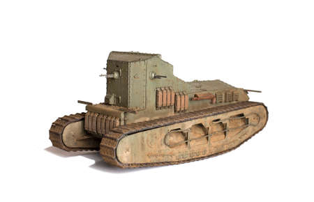 scale model of old vehicle