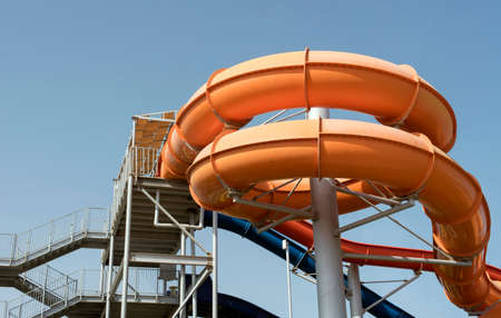 water park in an African resort Stock Photo