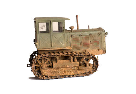Scale model of old vehicle Stock Photo