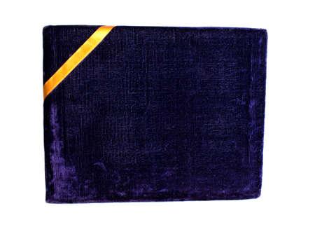 Velvet blue gift box
