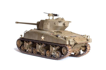 Scale model of old tank