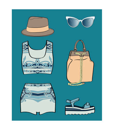 porcelain: Porcelain summer outfit set, trendy and fashionist