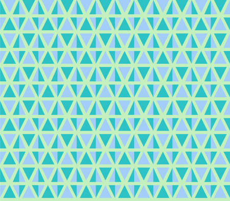 Seamless geometric vector pattern with blue triangles. Illustration