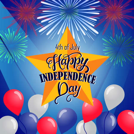 Postcard design for Fourth of July Independence Day