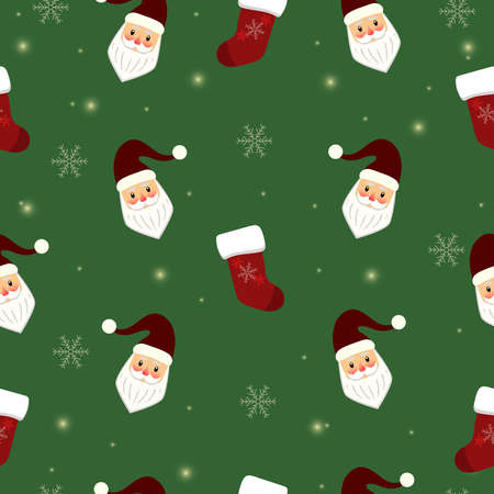 Christmas holiday seamless pattern Illustration