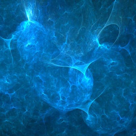Fractal glowing water