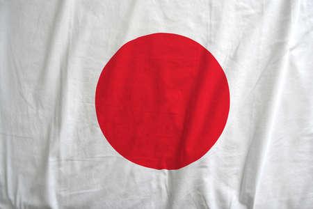 Japan national flag background texture.