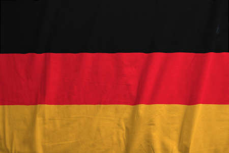Waving flag of Germany Stock Photo