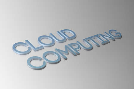 Cloud computing related items. Stock Photo
