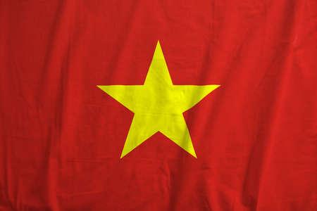 Flag of Vietnam waving.