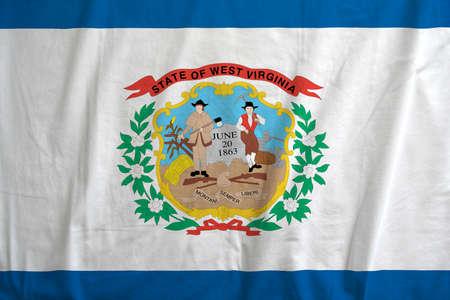 Flag of State of west Virginia waving. Reklamní fotografie