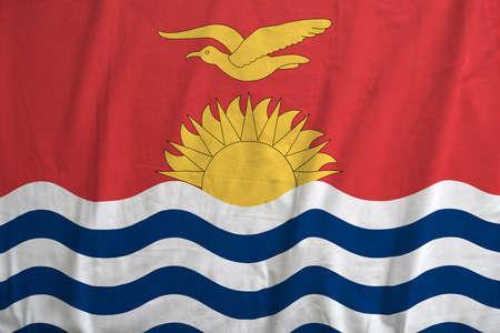 Flag of Kiribati waving. Stok Fotoğraf