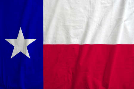 Flag of Texas, USA waving. Stock Photo - 107140395