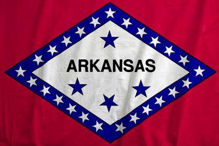 Flag of Arkansas, USA waving. Reklamní fotografie