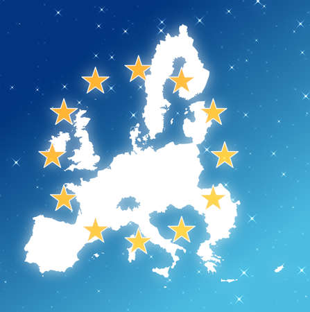 Map of Europe isolated  in the sky. Reklamní fotografie