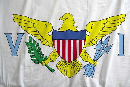 Flag texture of Virgin Islands, USA waving. Reklamní fotografie