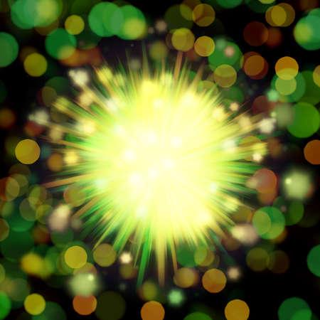 Green glitter vintage lights whit background defocused. Reklamní fotografie