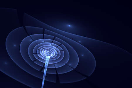 Singularity of massive black hole or wormhole. Reklamní fotografie