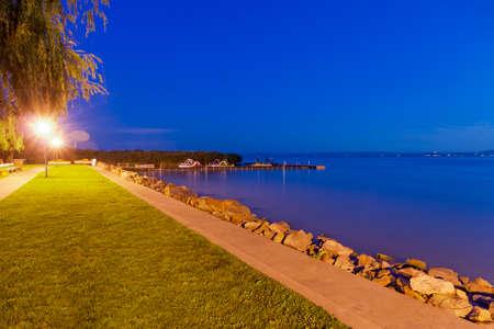 balaton: Beach by Lake Balaton Stock Photo