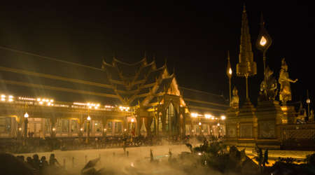 Heaven like and the fog in royal cremation ceremony for the late king Bhumibol Adulyadej