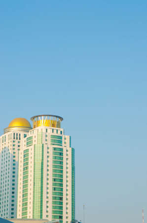 Buildings of Bangkok in front of clear sky. Stok Fotoğraf