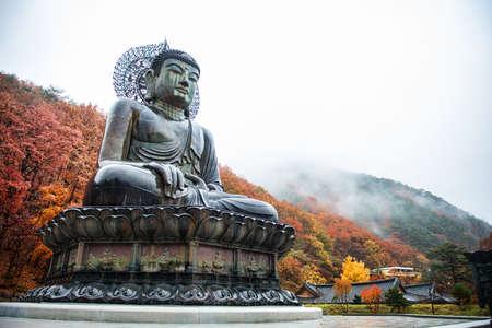 Big Buddha Monument of Sinheungsa Temple in Seoraksan National Park, Sokcho, South Korea