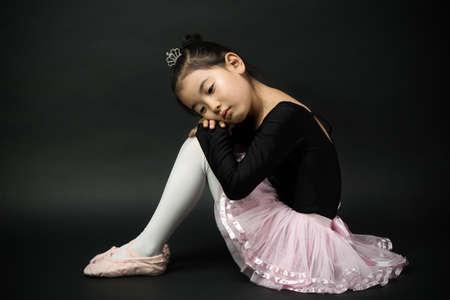 tutu: Asian little girl ballerina Stock Photo