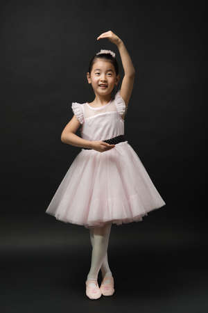 ballerina costume: Asian little girl ballerina Stock Photo