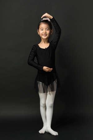 Asian little girl ballerina Zdjęcie Seryjne