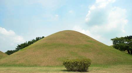 Gyeongju, South Korea - August 17, 2016: Cheonmachong, tumulus located in Gyeongju, South Korea. The tomb was for king of Silla Kingdom Editorial