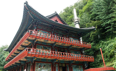Chungcheongbuk-do, South Korea - August 29, 2016: Guinsa temple in Sobaek Mountains, South Korea