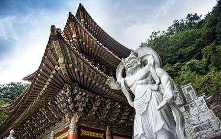 do: Chungcheongbuk-do, South Korea - August 29, 2016: Guinsa temple in Sobaek Mountains, South Korea