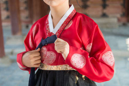 The colorful Hanbok, Korean traditional dress.