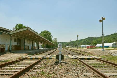 Stazione ferroviaria chiusa, vecchia stazione ferroviaria in Corea