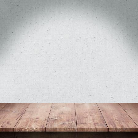 cocina antigua: Mesa de madera con textura de la tela de fondo