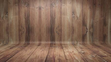 湾曲した木製の背景 写真素材