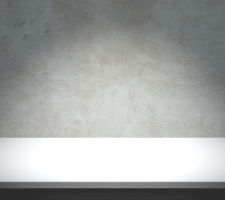 White table with concrete texture background