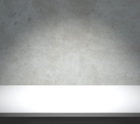 White table with concrete texture background 版權商用圖片 - 41238799