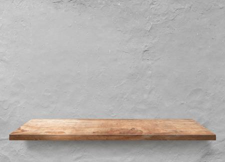 Wood plank shelf